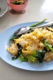 油煎的菠萝米泰国素食主义者 免版税库存图片