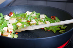 油煎的蔬菜 免版税库存图片