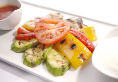 油煎的蔬菜 库存图片