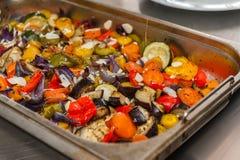 油煎的蔬菜 免版税图库摄影