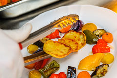 油煎的蔬菜 库存照片
