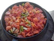 油煎的蕃茄 免版税库存图片