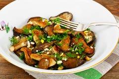 油煎的蘑菇牡蛎 免版税图库摄影