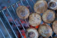 油煎的蘑菇 图库摄影