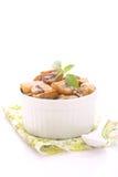 油煎的蘑菇 库存照片