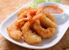 油煎的虾可口开胃菜 图库摄影