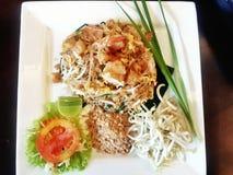油煎的虾泰国泰国#的垫 库存照片