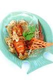 油煎的虾蛄 库存图片