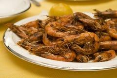 油煎的虾 免版税库存图片