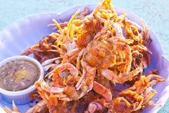 油煎的螃蟹 免版税库存图片