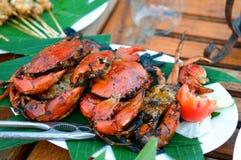 油煎的螃蟹 库存照片