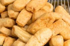 油煎的豆腐,素食食物 图库摄影