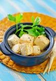 油煎的豆腐 免版税库存照片