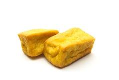 油煎的豆腐 库存照片