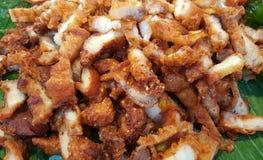 油煎的酥脆猪肉 免版税库存图片