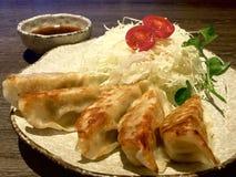 油煎的饺子 中国,日本 库存照片