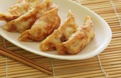 油煎的饺子 免版税库存图片