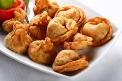 油煎的饺子 免版税库存照片