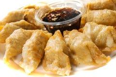 油煎的饺子 免版税图库摄影