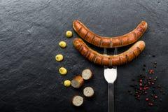 油煎的香肠 免版税图库摄影
