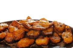 油煎的香蕉古巴食物 免版税库存图片