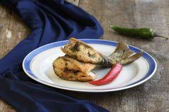 油煎的鱼可口片断  免版税图库摄影