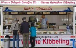 油煎的鱼商店在Marken 免版税库存照片