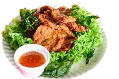 油煎的鱼开胃菜是可口的 库存照片