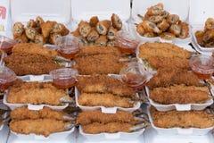 油煎的鱼开胃菜 库存照片