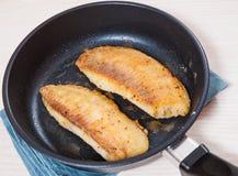 油煎的鱼片 免版税图库摄影