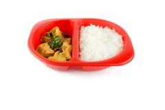 油煎的鱼用辣椒容易的泰国食物 库存照片