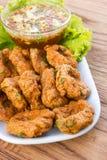 油煎的鱼糕泰国食物 免版税库存图片