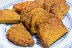 油煎的鱼糕泰国食物 库存图片