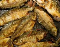 油煎的鱼 库存照片