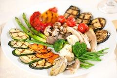 油煎的鲜美蔬菜 免版税图库摄影