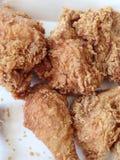 油煎的鸡关闭 免版税图库摄影