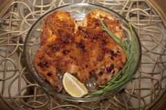 油煎的鸡 鸡烟草或鸡tapaka 英王乔治一世至三世时期cuisi 图库摄影