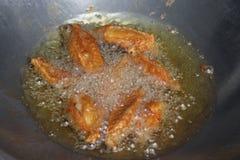 油煎的鸡 库存照片