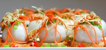 油煎的黏米饭饺子 库存图片