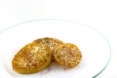 油煎的绿色蕃茄 免版税图库摄影