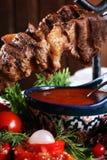 油煎的kebab 图库摄影