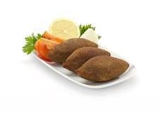 油煎的Kibe黎巴嫩食物    免版税库存图片