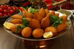 油煎的Kibe黎巴嫩食物 图库摄影