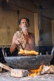 油煎Pakoras -普里Dhaba 免版税库存照片