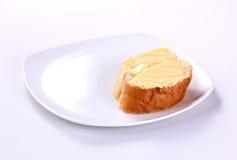 黄油用面包 免版税库存图片
