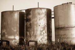 油田油箱西部得克萨斯 免版税图库摄影