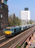 类67柴油电力机车在曼彻斯特 免版税库存图片