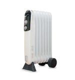 油电幅射器加热器isolaited在白色 免版税库存图片