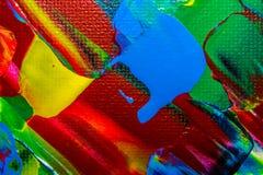油画抽象,明亮的颜色 背景 库存照片