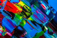 油画抽象,明亮的颜色 背景 库存图片